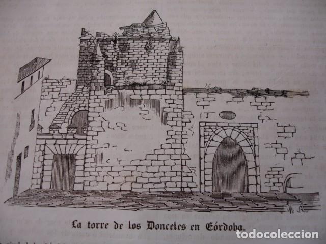 CORDOBA TORRE DE LOS DONCELES 1843 (Arte - Xilografía)