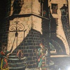 Arte: VALENCIA.XILOGRAFIA COLOREADA,J.CASTELLS MARTI,1906-1980,HUELLA 14X18,TOTAL 36X26 APROX.TITULO Y FIR. Lote 97929835