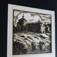 Arte: VILLAVICIOSA DE ODON MADRID CASTILLO XILOGRAFIA DE J. LOYGORRI 15,5 X 19 CMTS. Lote 102664459