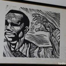 Arte: ORIGINAL XILOGRAFÍA DE MIGUEL HERNÁNDEZ POR JUAN MANUEL FERNÁNDEZ PERA - GENERACIÓN DEL 27 - 1975. Lote 102806275