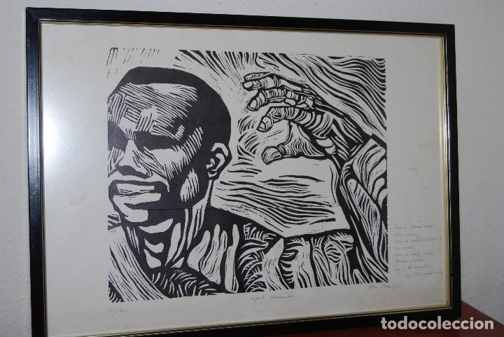 Arte: ORIGINAL XILOGRAFÍA DE MIGUEL HERNÁNDEZ POR JUAN MANUEL FERNÁNDEZ PERA - GENERACIÓN DEL 27 - 1975 - Foto 2 - 102806275