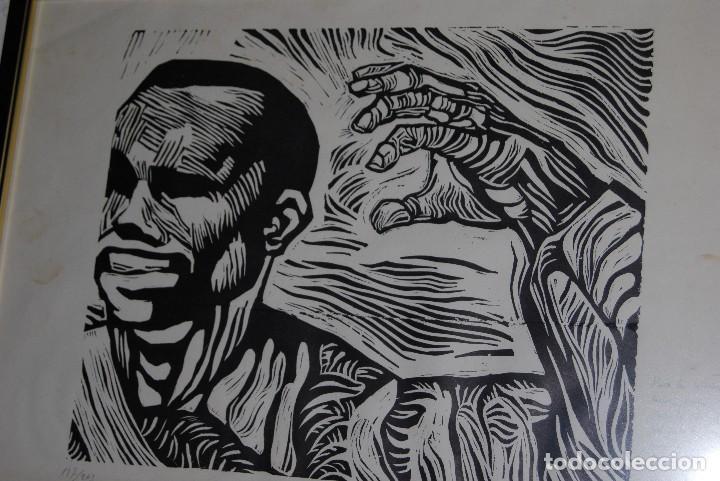 Arte: ORIGINAL XILOGRAFÍA DE MIGUEL HERNÁNDEZ POR JUAN MANUEL FERNÁNDEZ PERA - GENERACIÓN DEL 27 - 1975 - Foto 4 - 102806275