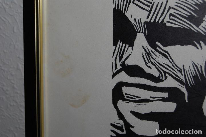 Arte: ORIGINAL XILOGRAFÍA DE MIGUEL HERNÁNDEZ POR JUAN MANUEL FERNÁNDEZ PERA - GENERACIÓN DEL 27 - 1975 - Foto 5 - 102806275