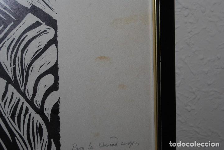 Arte: ORIGINAL XILOGRAFÍA DE MIGUEL HERNÁNDEZ POR JUAN MANUEL FERNÁNDEZ PERA - GENERACIÓN DEL 27 - 1975 - Foto 6 - 102806275
