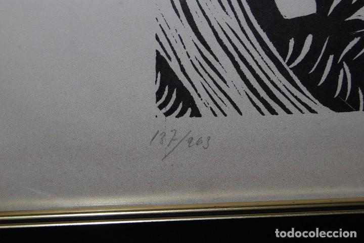 Arte: ORIGINAL XILOGRAFÍA DE MIGUEL HERNÁNDEZ POR JUAN MANUEL FERNÁNDEZ PERA - GENERACIÓN DEL 27 - 1975 - Foto 7 - 102806275