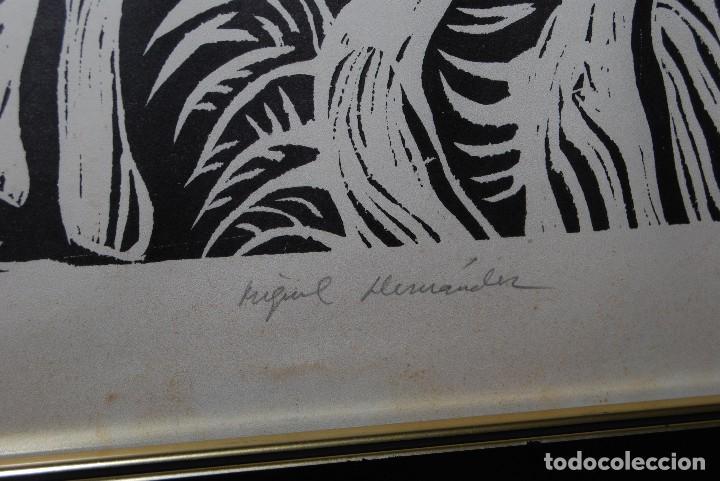 Arte: ORIGINAL XILOGRAFÍA DE MIGUEL HERNÁNDEZ POR JUAN MANUEL FERNÁNDEZ PERA - GENERACIÓN DEL 27 - 1975 - Foto 8 - 102806275