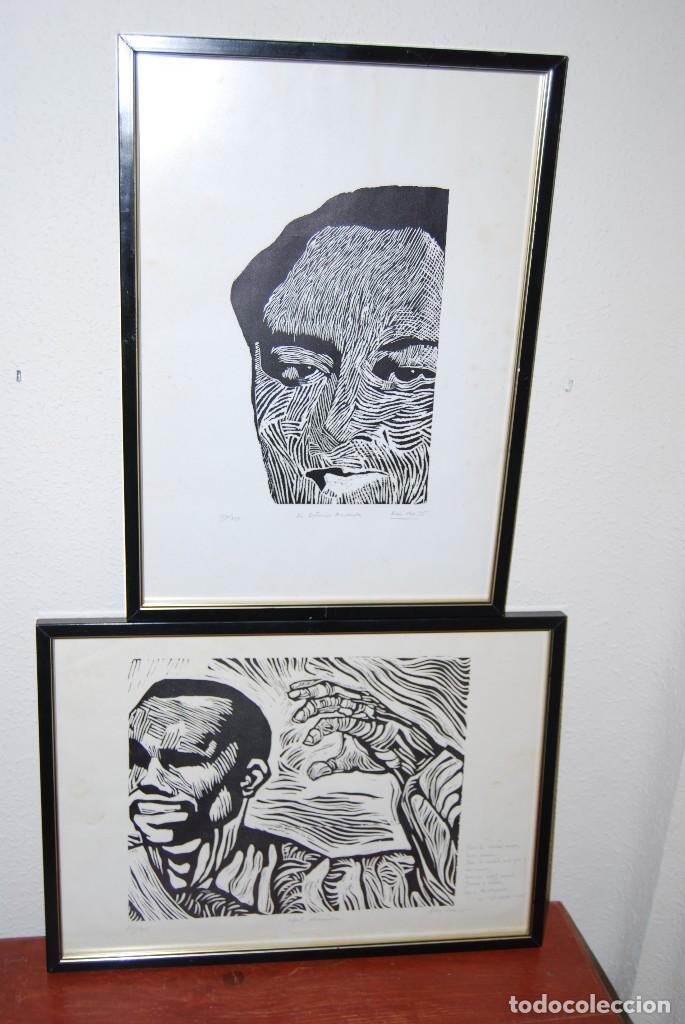 Arte: ORIGINAL XILOGRAFÍA DE MIGUEL HERNÁNDEZ POR JUAN MANUEL FERNÁNDEZ PERA - GENERACIÓN DEL 27 - 1975 - Foto 12 - 102806275