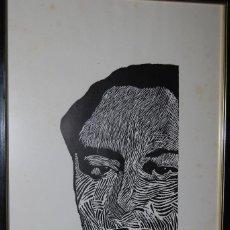Arte: ORIGINAL XILOGRAFÍA DE ANTONIO MACHADO POR JUAN MANUEL FERNÁNDEZ PERA - GENERACIÓN DEL 98 - 1975. Lote 102831275