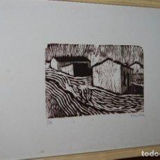 Arte: ORIGINAL XILOGRAFÍA - PAISAJE RURAL - CASAS - P/A PRUEBA DE ARTISTA - JUAN MANUEL FERNÁNDEZ PERA. Lote 102831611