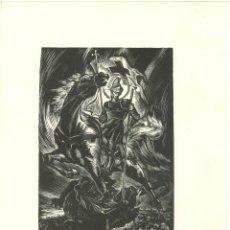 Arte: XILOGRAFIA DE SANT JORDI PATRÓ DE CATALUNYA - (22X30). Lote 102948983
