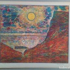 Arte: GRAN GRABADO EN XILOGRAFÍA MUY COLORISTA. Lote 103212743