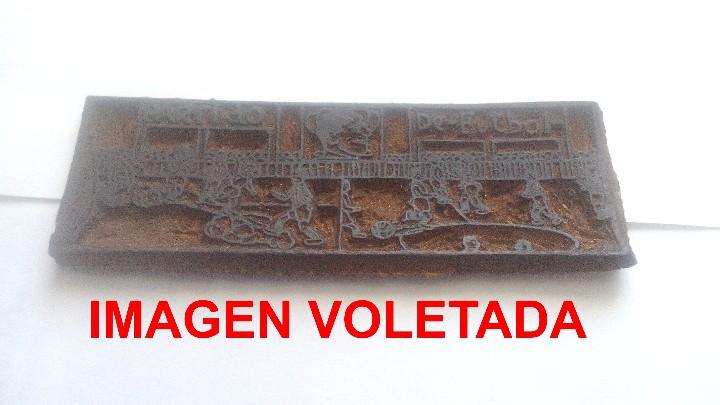 Arte: XILOGRAFIA - PLANCHA O MOLDE EN MADERA - PARTIDO DE FUTBOL - Foto 4 - 103394243
