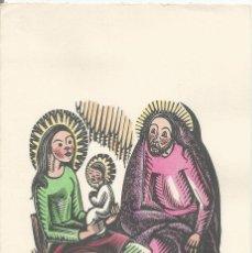 Arte: XILOGRAFIA ANTONI GELABERT. ACOLORIDA A MÀ - DÍPTIC (11,5X22,5). Lote 103489511