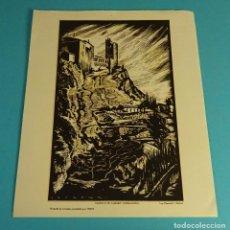 Arte: CASTILLO DE TAMARIT (TARRAGONA. XILOGRAFÍA DE LOYGORRI PARA LABORATORIO MEDIX. FORMATO 21,5 X 27,5CM. Lote 103627051