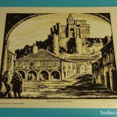 Arte: CASTILLO DE TURÉGANO (SEGOVIA). XILOGRAFÍA DE LOYGORRI PARA LABORATORIO MEDIX. 27,5 X 21,5 CM. Lote 103627915
