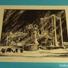 Arte: CASTILLO DE VILLAFUERTE (VALLADOLID). XILOGRAFÍA DE LOYGORRI PARA LABORATORIO MEDIX. 27,5 X 21,5 CM. Lote 103628071