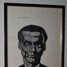 Arte: FANTÁSTICA Y ORIGINAL XILOGRAFÍA DE FEDERICO GARCÍA LORCA POR JUAN MANUEL FERNÁNDEZ PERA - 1975. Lote 104549355