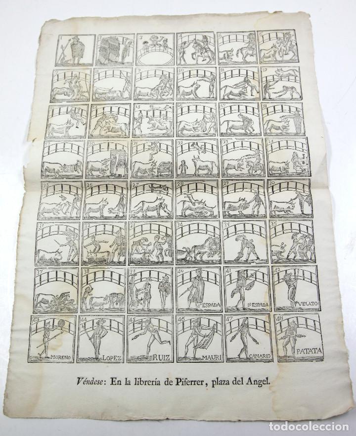 Arte: ALELUYA de oficios, TOREO - TOROS. CORRIDA HECHA PARA LA VISITA DEL REY CARLOS IV A BARCELONA, 1802. - Foto 2 - 110211391