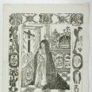 Arte: LA SOLEDAD DE MARÍA S. MANRESA, POR PABLO ROCA. 31X43 CM. MITAD S.XIX. APROX.. Lote 110228279
