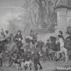 Arte: CAZA CON HALCONES RAUBER .AÑO 1891. Lote 111961179