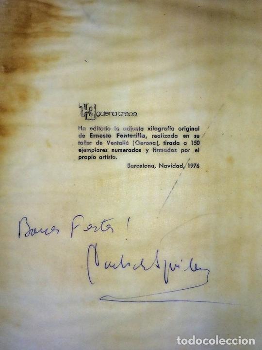 Arte: ALICIA?. XILOGRAFÍA A COLOR. 53/150. FIRMADO ERNESTO FONTECILLA. ESPAÑA. 1976 - Foto 4 - 114910463