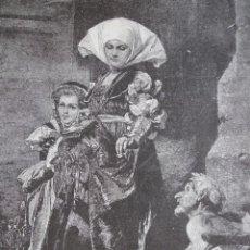 Arte: LA CONDESITA Y EL PORDIOSERO AÑO 1891. Lote 115540507