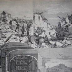 Arte: CONSUEGRA INUNDACIONES GUARDIA CIVIL AÑO 1891. Lote 115544331