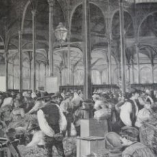 Arte: MADRID MECADO DE LOS MOSTENSES EN NOCHEBUENA AÑO 1891. Lote 115564691