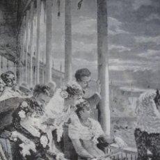 Arte: SEVILLA EN LA PLAZA DE TOROS BRENDAMOUNT AÑO 1891. Lote 115568923