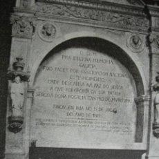 Arte: MONUMENTO A ROSALIA DE CASTRO SANTO DOMINGO SANTIAGO .AÑO 1891. Lote 116088183