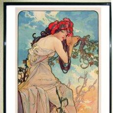 Arte: ALPHONSE MUCHA. LAS ESTACIONES- VERANO, 1896. MUCHA TRUST,CORTESÍA ARTHEMISIA 103X54 CMS. Lote 117404635