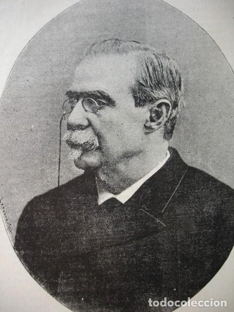 ANTONIO CANOVAS DEL CASTILLO .AÑO 1892 (Arte - Xilografía)
