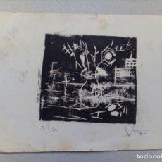 Arte: ANTIGUO LINOLEO, PRUEBA DE ARTISTA.. Lote 119536779