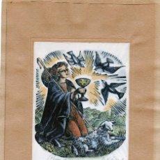 Arte: XILOGRAFIA ORIGINAL EN PROVA D'ASSAIG DE E. C. RICART. ALEGORÍA EUCARISTICA. FIRMADA. Lote 120300847