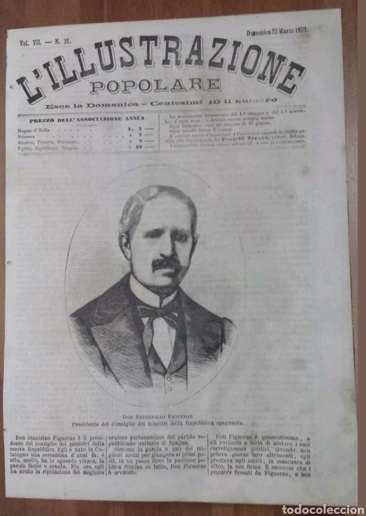 XILOGRAFIA L.ILLUSTRAZIONE POPULARE N°23 STANISLAO FIGERAS ESPAÑA 1873 (Arte - Xilografía)