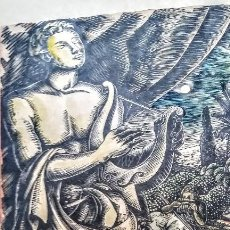 Arte: XILOGRAFIA ORIGINAL DE ENRIC C RICART- LA MUSIQUE: LA ARMONÍA DEL MUNDO DE 1930. FIRMADA. Lote 121717555