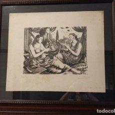 Arte: XILOGRAFÍA ORIGINAL DE ENRIC C RICART. ALEGORÍA DE LA MÚSICA. FIRMADA. 12/25. Lote 122112787