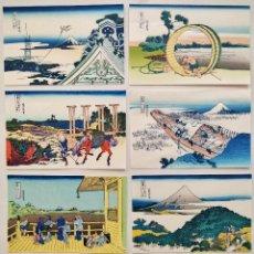 Arte: EXCELENTE LOTE DE 8 GRABADOS JAPONESES DEL MAESTRO HOKUSAI, XILOGRAFÍA, BONITOS COLORES. YESTERDAY 1. Lote 126630683