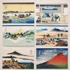 Arte: EXCELENTE LOTE DE 8 GRABADOS JAPONESES DEL MAESTRO HOKUSAI, XILOGRAFÍA, BONITOS COLORES. YESTERDAY 2. Lote 126630851