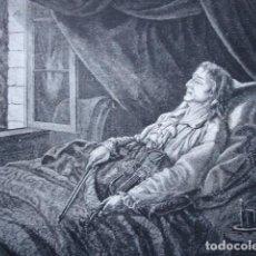 Art: MUERTE DE PAGANINI EN NIZA AÑO 1888. Lote 126952251