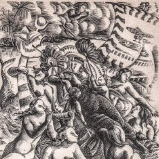 Arte: XILOGRAFÍA ORIGINAL DE ENRIC C RICART. NIN. CLEOPATRA EN EL RIO CIDNOS. 1939. Lote 128025311