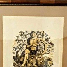Arte: EXTRAORDINARIA XILOGRAFÍA DE ENRIC C RICART NIN. ORFEU/ORFEO. FIRMADA. AÑO 1954. Lote 128031927