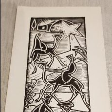 Arte: XILOGRAFÍA / FELICITACIÓN DE NAVIDAD / J. CASTELLS MARTI. AÑO 1979-80 / BUEN ESTADO.. Lote 128049503