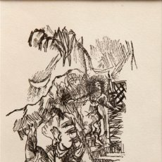 Arte: OSKAR KOKOSCHKA (1886-1980) - XILOGRAFIA FIRMADA A MANO - 1946. Lote 128242055