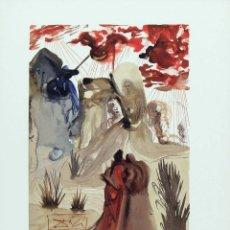Arte: SALVADOR DALI - DIVINA COMEDIA. XILOGRAFIA ORIGINAL 1960. 33 X 26 CM. Lote 129378967
