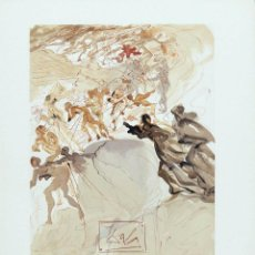 Arte: SALVADOR DALI - DIVINA COMEDIA. XILOGRAFIA ORIGINAL 1960. 33 X 26 CM. Lote 129379063