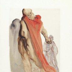 Arte: SALVADOR DALI - DIVINA COMEDIA. XILOGRAFIA ORIGINAL 1960. 33 X 26 CM. Lote 129379135