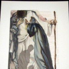 Arte: SALVADOR DALI - DIVINA COMEDIA. XILOGRAFIA ORIGINAL 1960. 33 X 26 CM. Lote 129379479