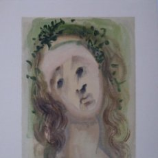 Arte: SALVADOR DALI - DIVINA COMEDIA. XILOGRAFIA ORIGINAL 1960. 33 X 26 CM. Lote 129379623