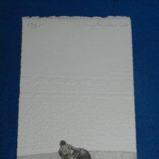 Arte: (MF) XILOGRAFIA ESCENA TAUROMAQUIA ( TOROS ) FIRMADA ALBERTO MARTINEZ ( BURGOS ) NUMERADA 29/75. Lote 129540967